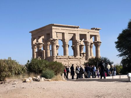 holies: Philae is an island in the Nile River and the site of an Ancient Egyptian temple complex in southern Egypt.