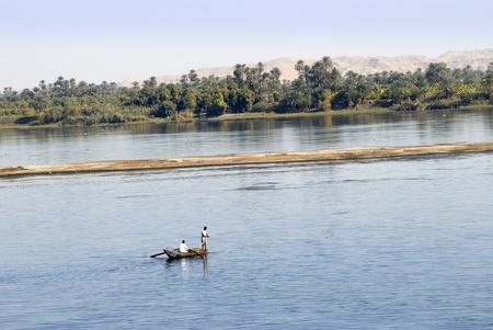 fishermen on the river Nile in Egypt photo