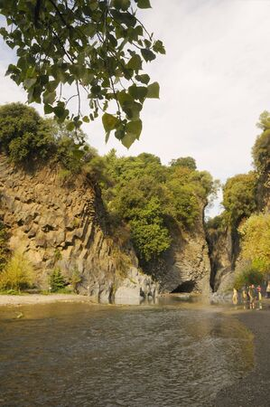 The Alcantara Gorge. The woods around the gorge are actually quite small, but this scenic site, on the Alcantara River  photo