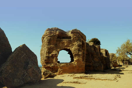 agrigento: Temple of Concordia at Agrigento Sicily Italy Stock Photo
