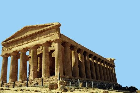 Temple of Concordia Agrigento Sicily, Italy Stock Photo
