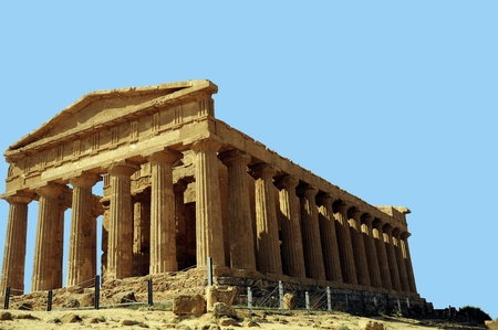 agrigento: Temple of Concordia Agrigento Sicily, Italy Stock Photo