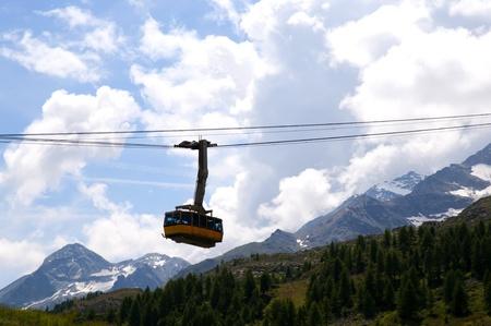Swiss Alps near St Moritz Switzerland Europe Stock Photo