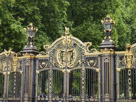 Gates of Buckingham Palace in London photo