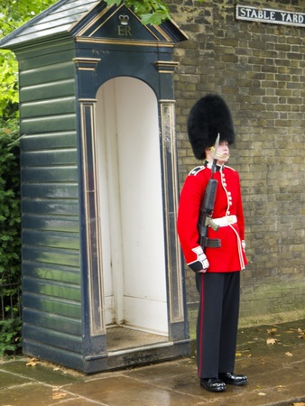 father in law: Guard in Sentry Box in London England