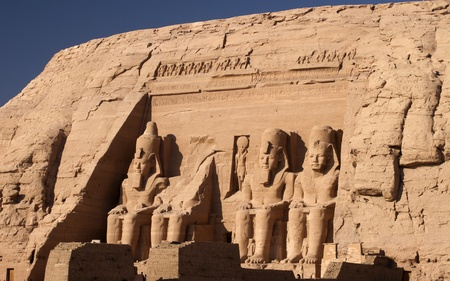 The Temple of Rameses II at Abu Simbel in Southern Egypt