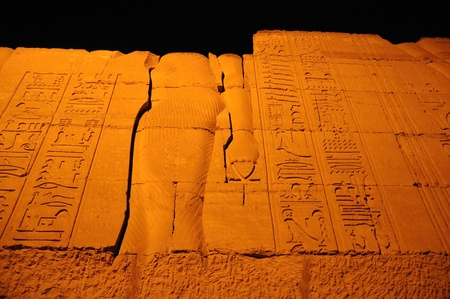 Night in the Temple of Sobek the crocodile god at Komombo in Egypt Stock Photo - 10333273