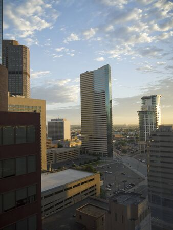 Dawn over Downtown cityscape in Denver, Colorado, USA Stock Photo - 10335920