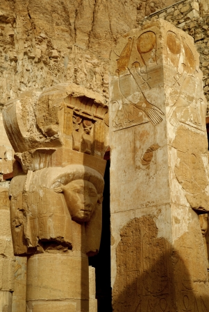 luxor: Mortuary Temple of the female Pharaoh Hatshepsut Luxor Egypt. Hatshepsut meaning, Foremost of Noble Ladies was the fifth pharaoh of the eighteenth dynasty of Ancient Egypt