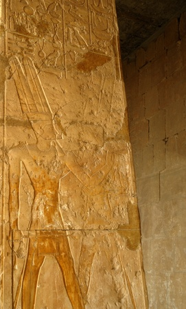 Mortuary Temple of the female Pharaoh Hatshepsut Luxor Egypt. Hatshepsut meaning, Foremost of Noble Ladies was the fifth pharaoh of the eighteenth dynasty of Ancient Egypt