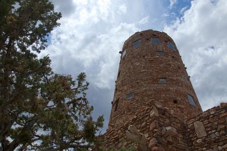watchtower: Desert View Watchtower at rim of Grand Canyon USA