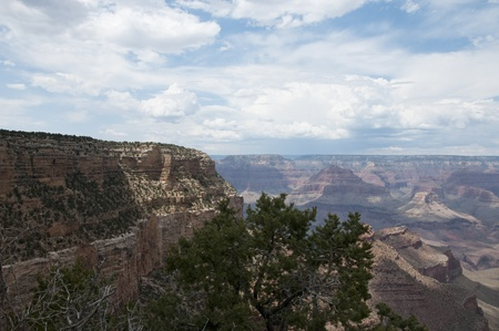 mesas: View Over the Grand Canyon ArizonaNevada USA
