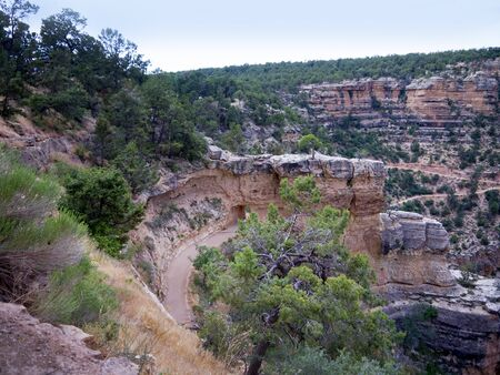 mesas: Bright Angel Trail in Grand Canyon USA
