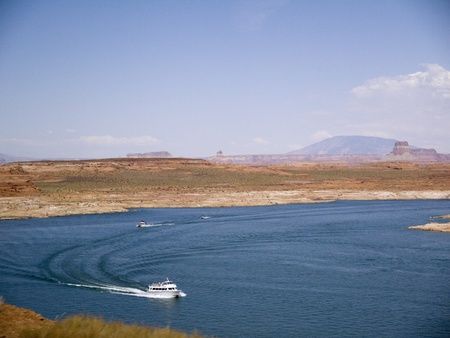 mesas: Lake Powell on the Arizona Nevada Border USA