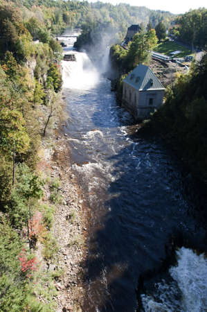 chasm: Ausable Chasm in Keeseville, New York.USAThe Ausable River runs through it, which then empties into Lake Champlain. The gorge is about two miles long, and is a significant tourist attraction in the Adirondacks region of Upstate New York..
