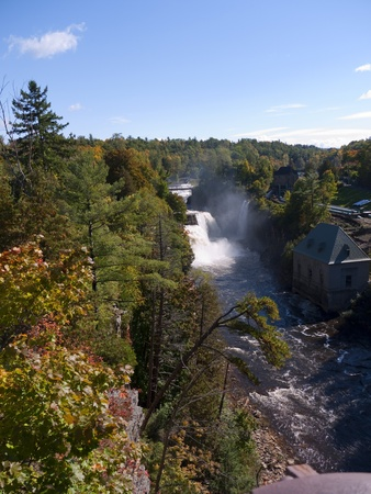 Ausable Chasm in Keeseville, New York.USA. The Ausable River runs through it, which then empties into Lake Champlain. The gorge is about two miles long, and is a significant tourist attraction in the Adirondacks region of Upstate New York. Stock Photo - 10628682