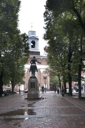 revere: Statue of Paul Revere. Boston is the capital and largest city in Massachusetts, and is one of the oldest cities in the United States. The largest city in New England, Boston is regarded as the unofficial Capital of New England  Editorial