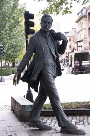 revere: Statue of Walking Man. Boston is the capital and largest city in Massachusetts, and is one of the oldest cities in the United States. The largest city in New England, Boston is regarded as the unofficial Capital of New England