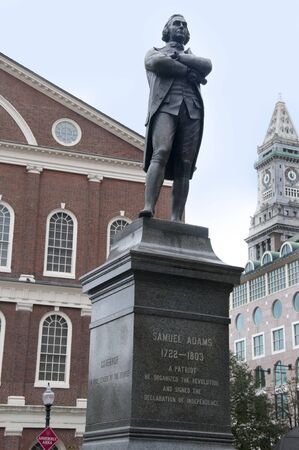 plimoth: Statue of Sam Adams. Boston is the capital and largest city in Massachusetts, and is one of the oldest cities in the United States. The largest city in New England, Boston is regarded as the unofficial Capital of New England