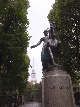 revere: Statue of Paul Revere.Boston is the capital and largest city in Massachusetts, and is one of the oldest cities in the United States. The largest city in New England, Boston is regarded as the unofficial Capital of New England