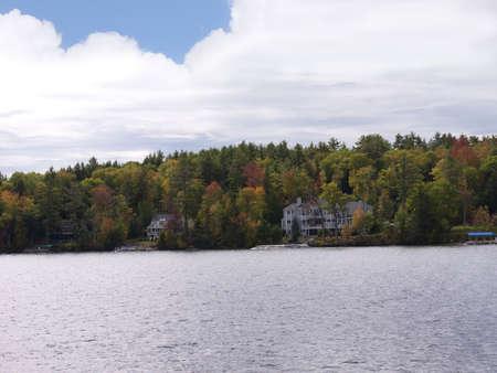 Lake Winnipesaukee New Hampshire in the Fall, USA photo