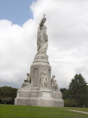 forefathers: Gigantic Statue of the National Monument to the Forefathers in Plymouth Massachusetts USA