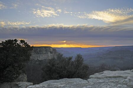 Sunset Over the Grand Canyon ArizonaNevada USA photo