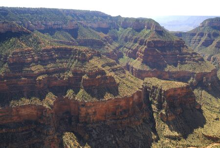 mesas: Grand Canyon from the Air in  Arizona USA Stock Photo