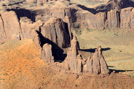 Monument Valley from the Air Navajo Tribal Lands Utah photo