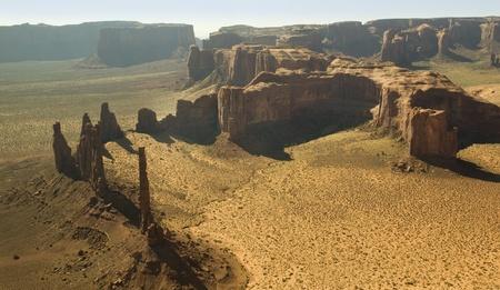 Monument Valley from the Air Navajo Tribal Lands Utah Banco de Imagens - 10804217