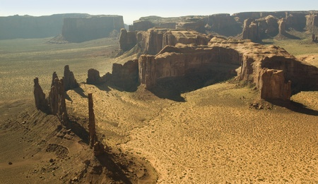 Monument Valley van de Air Navajo Tribal Lands Utah