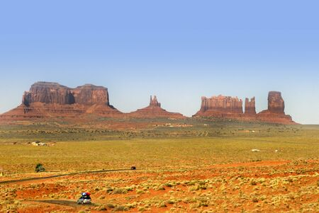 monument valley view: Buttes in Monument Valley, Navajo Tribal Lands Utah