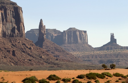Buttes in Monument Valley, Navajo Tribal Lands Utah
