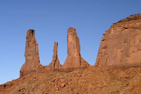 john wayne: 3 sisters Buttes in Monument Valley, Navajo Tribal Lands Utah