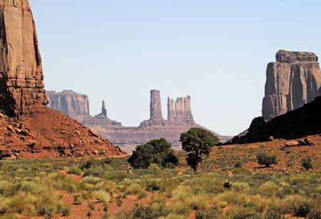 Buttes in Monument Valley, Navajo Tribal Lands Utah photo