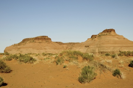mesas: Buttes in Monument Valley, Navajo Tribal Lands Utah