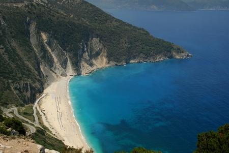 Myrtos Bay on the Island of Kephalonia Greek Islands Stock Photo - 10879950