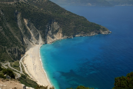 Myrtos Bay on the Island of Kephalonia Greek Islands Stock Photo - 10879950
