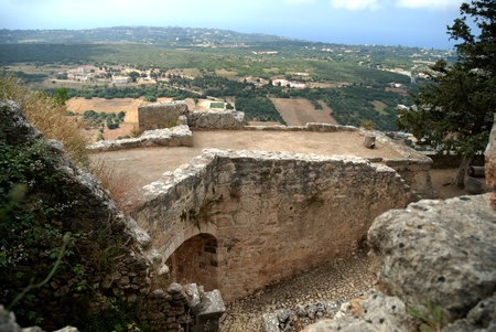 cefalonia: St Georges Castle on the Island of Kephalonia Greece
