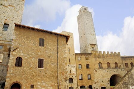 San Gimignano in Tuscany is like a medieval Manhattan. No matter which side you approach it from you can see San Gimignano sitting on the hilltop 334 metres (1095 feet) above sea level, surrounded by numerous towers.  photo