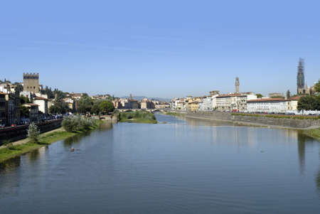 river arno: River Arno in Florence Italy Stock Photo