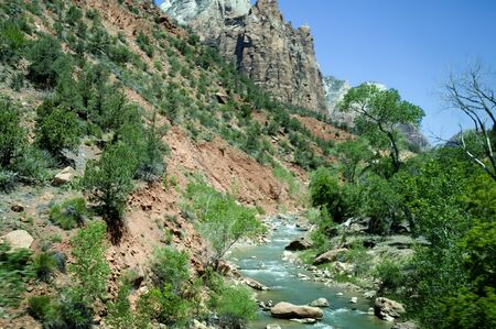 Beautiful Zion National Park in Utah USA photo