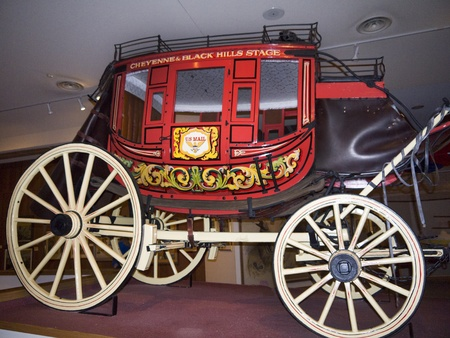 cody: Old Stage coach in Cody Wyoming USA