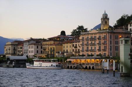 como: Bellagio on beautiful Lake Como Italy Europe Stock Photo