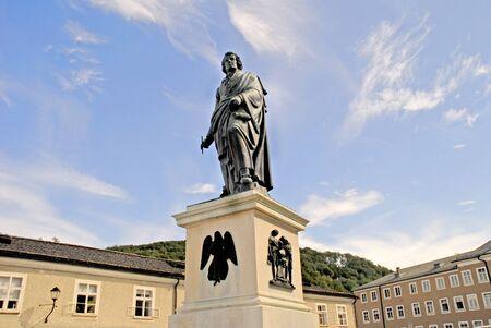 mozart: Statue of Mozart in Salzburg Austria