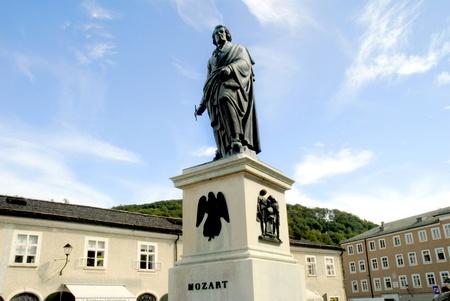 Standbeeld van Mozart in Salzburg Oostenrijk