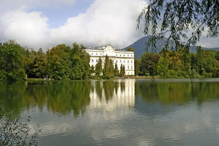 Leopoldskron Castle used in the Sound of Music near Salzburg in Austria