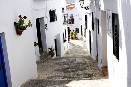 Frigiliana, one of the beautiful white villages of Andalucia in Spain Stock Photo - 14543296