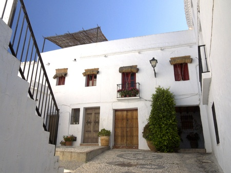 spanish tile: Frigiliana, one of the beautiful white villages of Andalucia in Spain