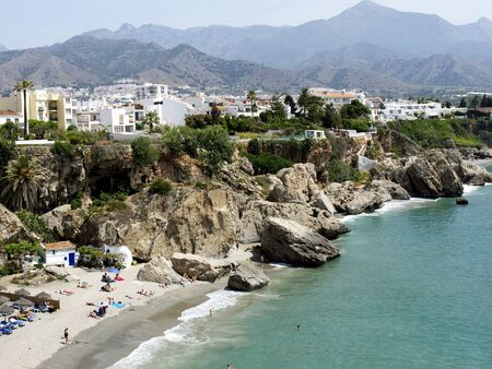 Nerja on the Costa del Sol in Andalucia Spain